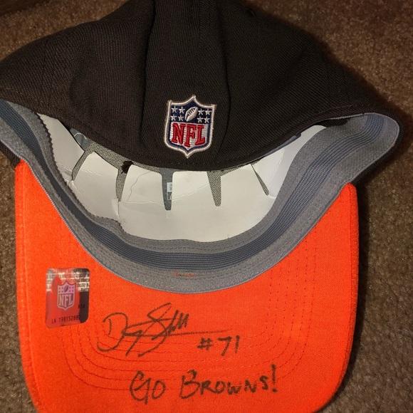 5935d9d9 AUTOGRAPHED Danny Shelton Cleveland Browns Hat Boutique